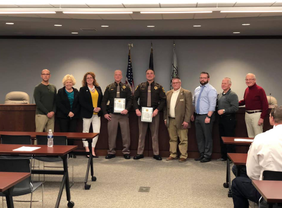 Fort Gratiot Board of Trustees with Deputy Dave Wright and Deputy Brent Old